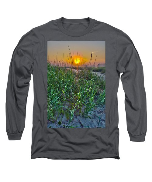 Long Sleeve T-Shirt featuring the photograph Sunrise At Myrtle Beach by Alex Grichenko