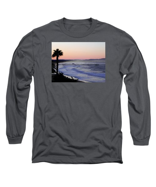 Long Sleeve T-Shirt featuring the photograph Sunrise At Pismo Beach by Kathy Churchman