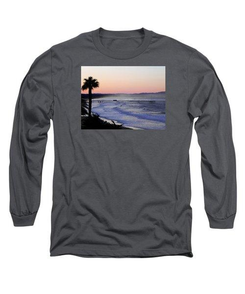 Sunrise At Pismo Beach Long Sleeve T-Shirt by Kathy Churchman