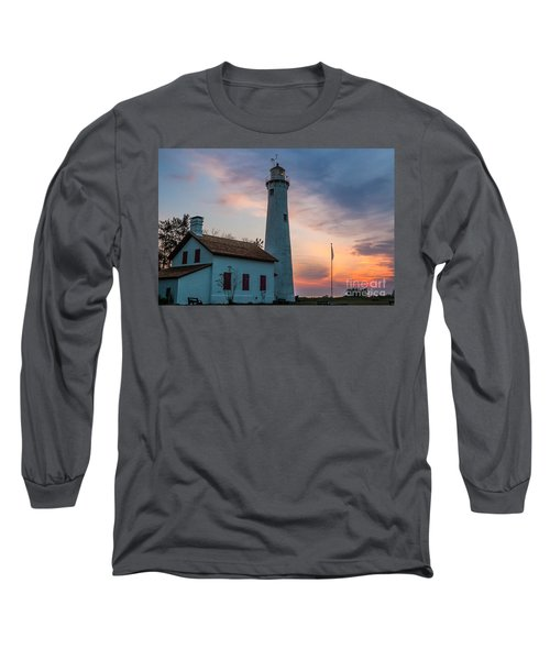 Long Sleeve T-Shirt featuring the photograph Sunrise At Sturgeon Point by Patrick Shupert
