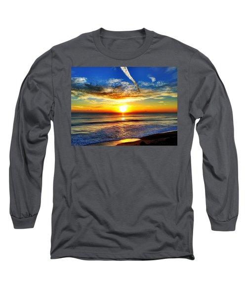 Sunrise Long Sleeve T-Shirt by Carlos Avila