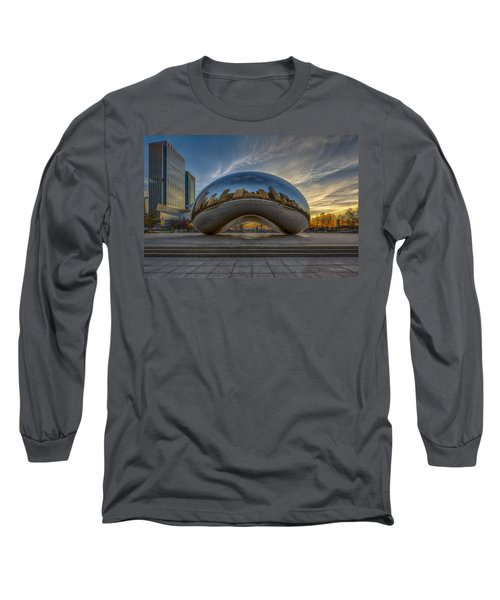 Long Sleeve T-Shirt featuring the photograph Sunrise Cloud Gate by Sebastian Musial