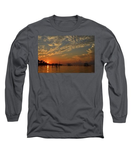 Sunrise Colors With Storms Building On Sound Long Sleeve T-Shirt