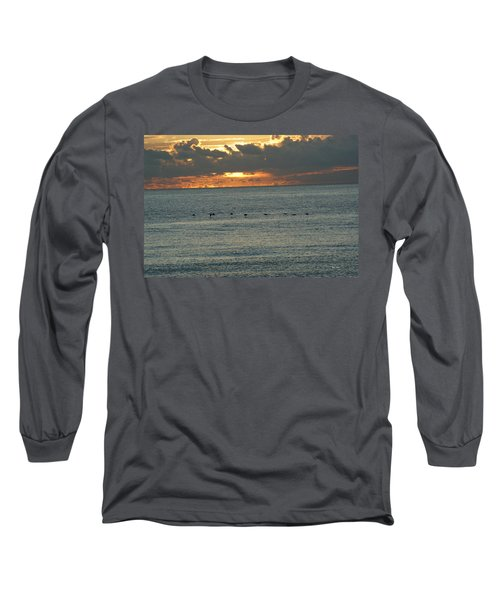 Long Sleeve T-Shirt featuring the photograph Sunrise In Florida Riviera by Rafael Salazar