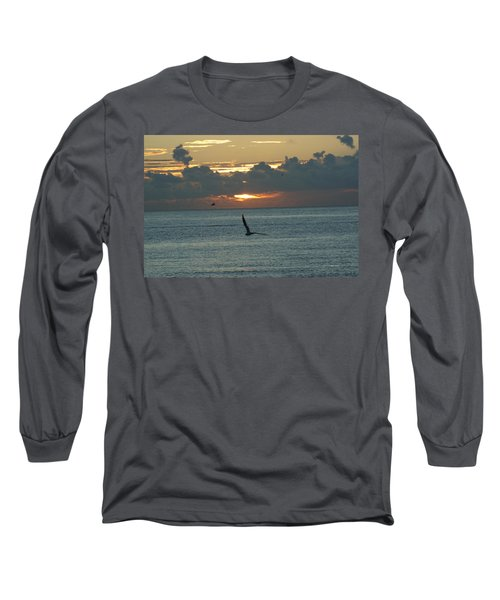 Long Sleeve T-Shirt featuring the photograph Sunrise In The Florida Riviera by Rafael Salazar