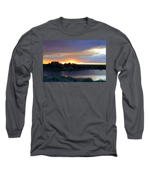 Sunrise Over Kinney Lake Long Sleeve T-Shirt