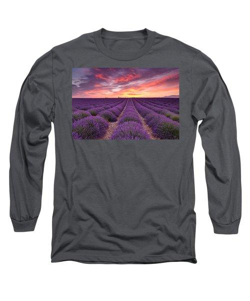 Sunrise Over Lavender Long Sleeve T-Shirt
