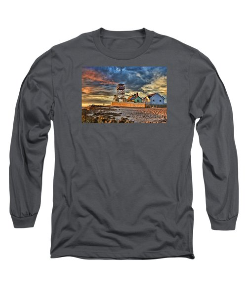 Sunrise Over The House Of Refuge On Hutchinson Island Long Sleeve T-Shirt