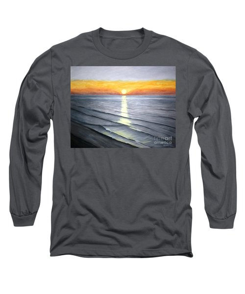 Long Sleeve T-Shirt featuring the painting Sunrise by Stacy C Bottoms