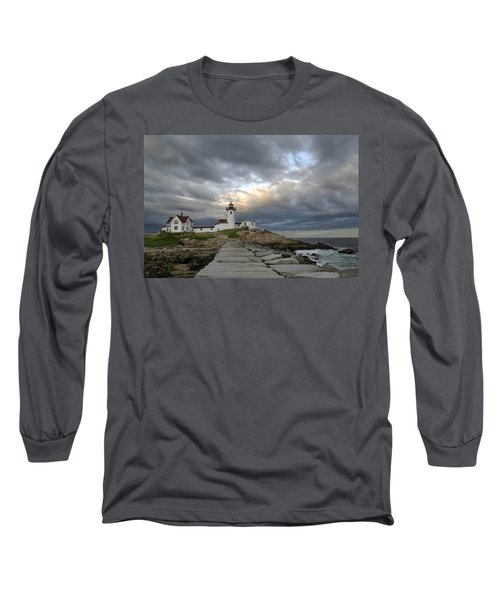 Sunset At Eastern Point Lighthouse Long Sleeve T-Shirt