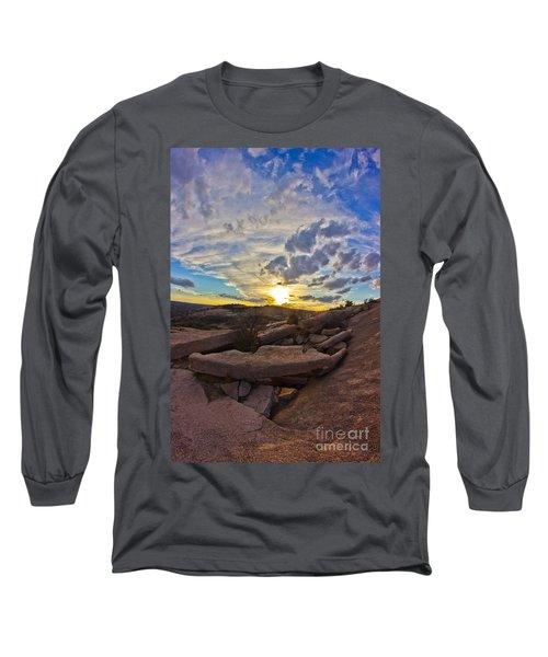 Sunset At Enchanted Rock State Natural Area Long Sleeve T-Shirt