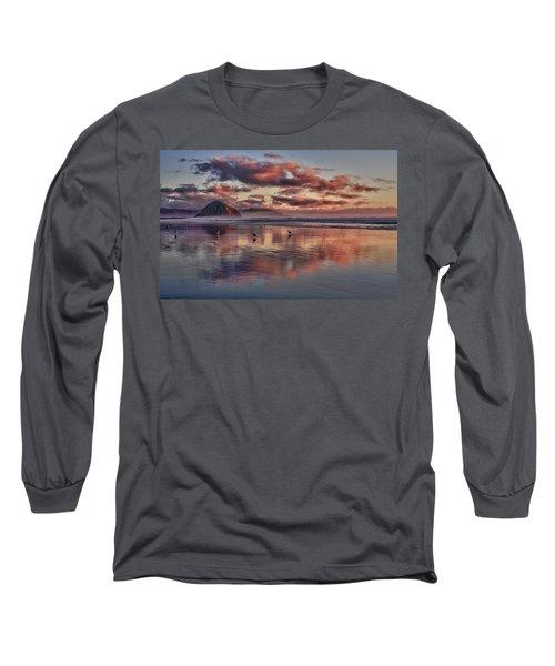 Sunset At Morro Strand Long Sleeve T-Shirt
