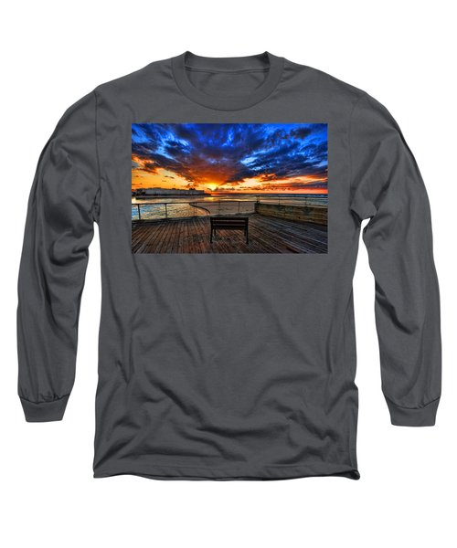 sunset at the port of Tel Aviv Long Sleeve T-Shirt