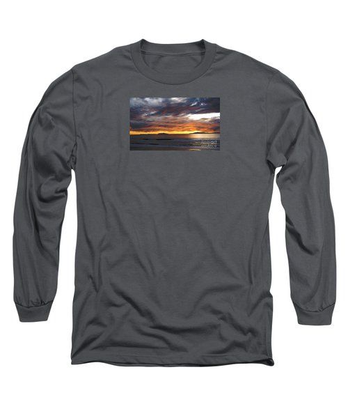 Sunset At The Shores Long Sleeve T-Shirt by Janice Westerberg