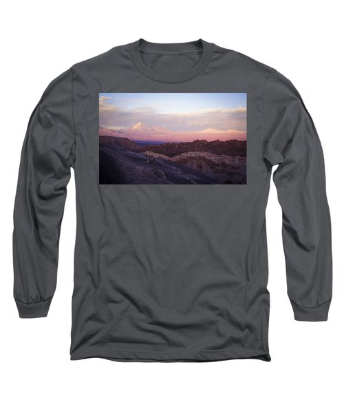 Sunset At The Valley Of The Moon Long Sleeve T-Shirt by Lana Enderle