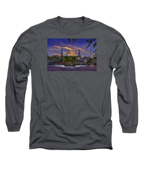 Sunset At U.t. Long Sleeve T-Shirt