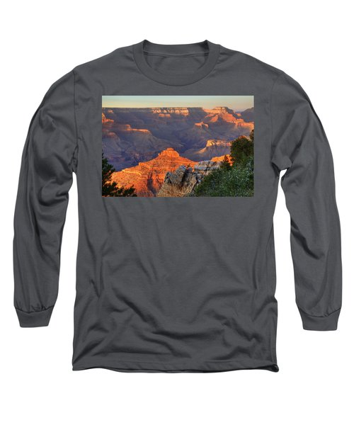 Long Sleeve T-Shirt featuring the photograph Sunset At Yaki Point by Alan Vance Ley