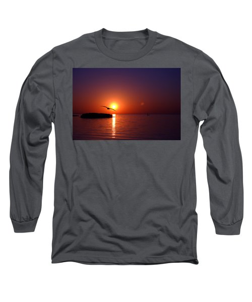 Sunset Blue Long Sleeve T-Shirt