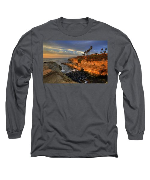 Sunset Cliffs Long Sleeve T-Shirt by Peter Tellone