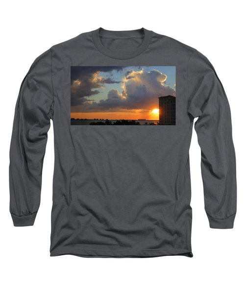 Sunset Shower Sarasota Long Sleeve T-Shirt