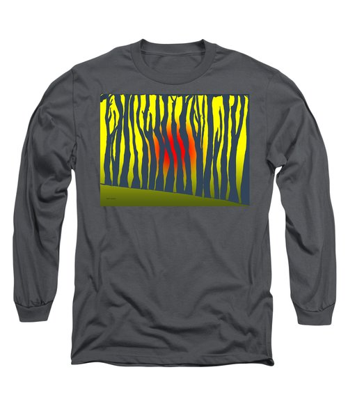 Long Sleeve T-Shirt featuring the photograph Sunset Deep In The Forest by Haleh Mahbod