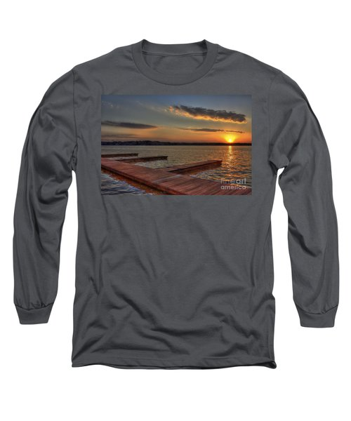 Sunset Docks On Lake Oconee Long Sleeve T-Shirt by Reid Callaway