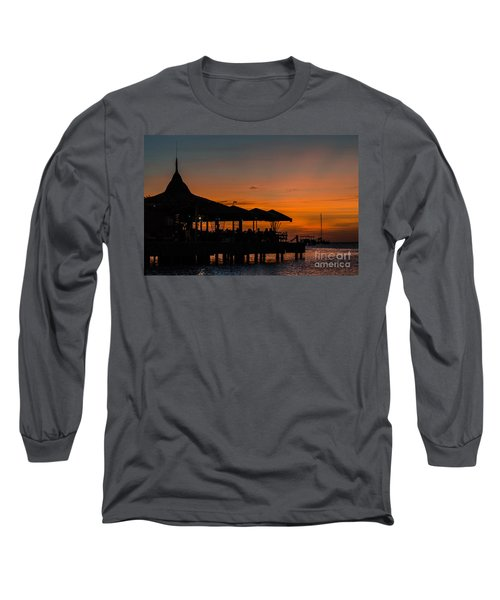 Sunset From Pelican Pier Long Sleeve T-Shirt