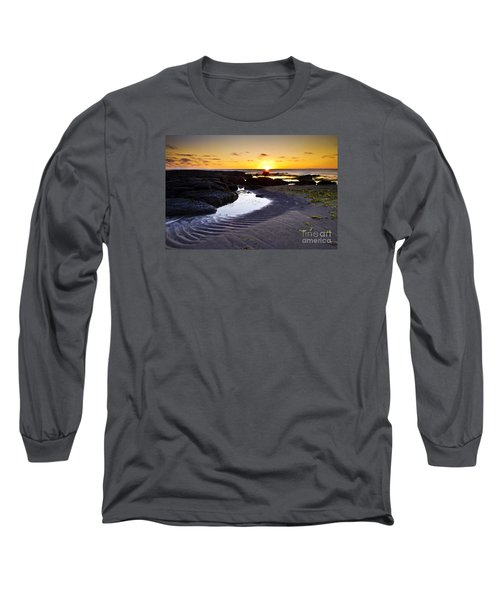 Long Sleeve T-Shirt featuring the photograph Sunset In Iceland by Gunnar Orn Arnason
