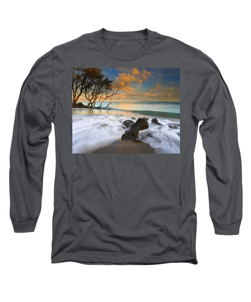 Sunset In Paradise Long Sleeve T-Shirt by Mike  Dawson