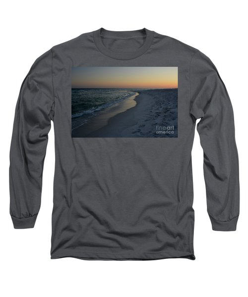 Sunset Navarre Beach Long Sleeve T-Shirt by Janice Spivey