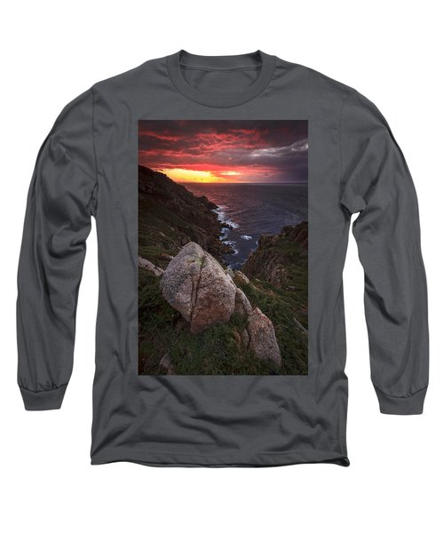 Long Sleeve T-Shirt featuring the photograph Sunset On Cape Prior Galicia Spain by Pablo Avanzini