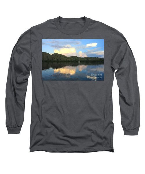 Long Sleeve T-Shirt featuring the photograph Sunset On Komodo by Sergey Lukashin