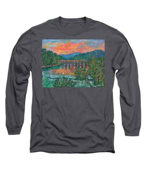 Sunset On The New River Long Sleeve T-Shirt