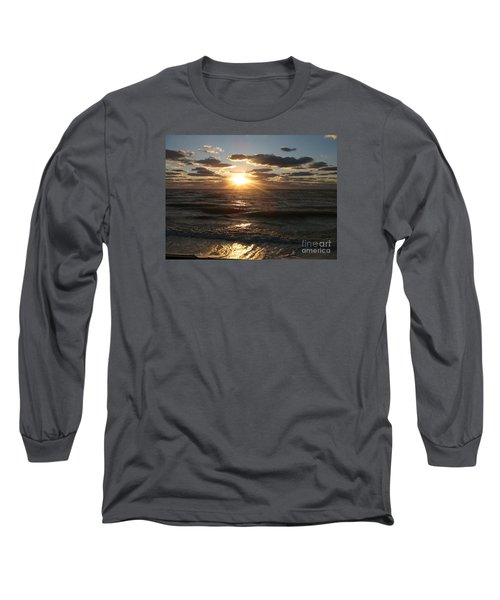 Long Sleeve T-Shirt featuring the photograph Sunset On Venice Beach  by Christiane Schulze Art And Photography