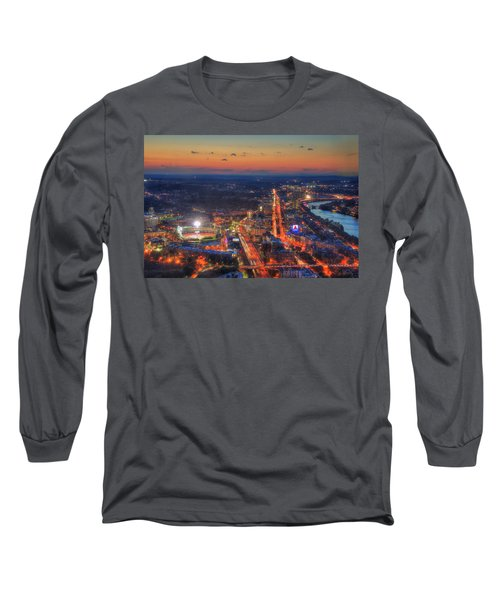 Sunset Over Fenway Park And The Citgo Sign Long Sleeve T-Shirt by Joann Vitali