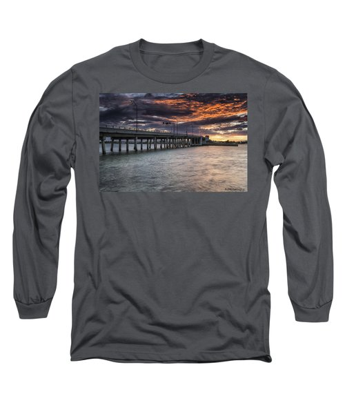 Sunset Over The Drawbridge Long Sleeve T-Shirt