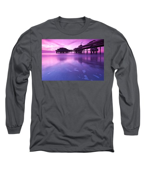 Long Sleeve T-Shirt featuring the photograph Sunset Over The Pier by Mihai Andritoiu