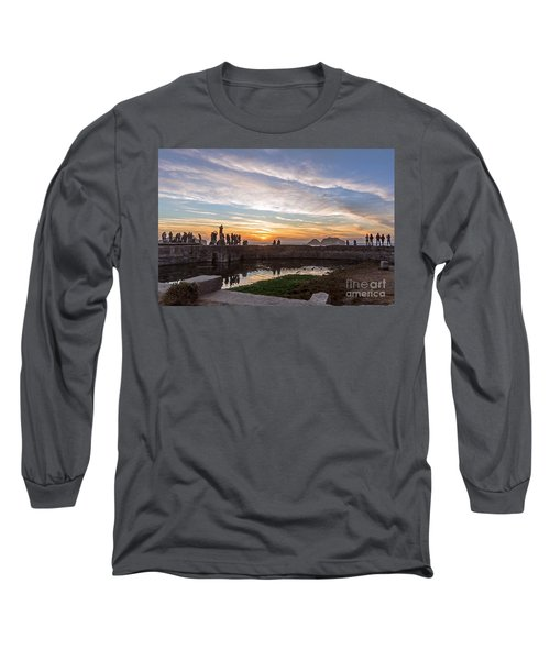 Long Sleeve T-Shirt featuring the photograph Sunset Party by Kate Brown