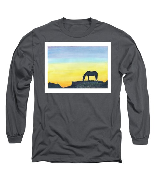 Sunset Silhouette Long Sleeve T-Shirt by C Sitton