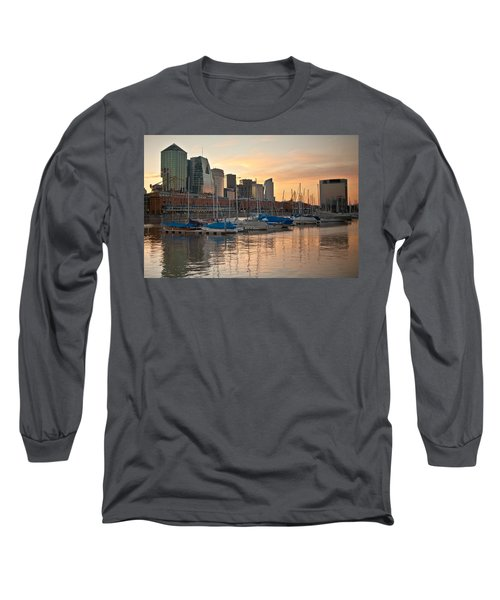 Long Sleeve T-Shirt featuring the photograph Buenos Aires Sunset by Silvia Bruno