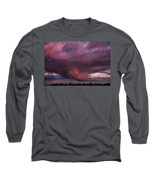 Long Sleeve T-Shirt featuring the photograph Sunset Storm by Toni Hopper