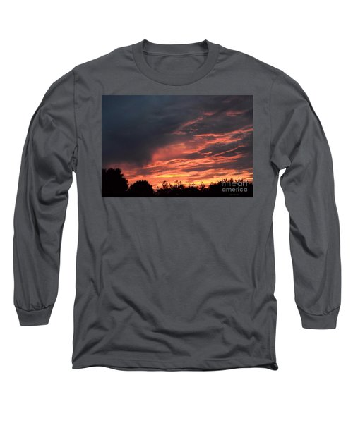 Long Sleeve T-Shirt featuring the photograph Sunset Streaks by Luther Fine Art
