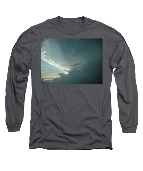 Sunset Supercell Long Sleeve T-Shirt by Ed Sweeney