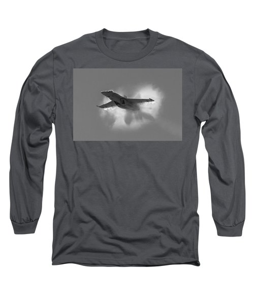 Super Hornet Shockwave Bw Long Sleeve T-Shirt