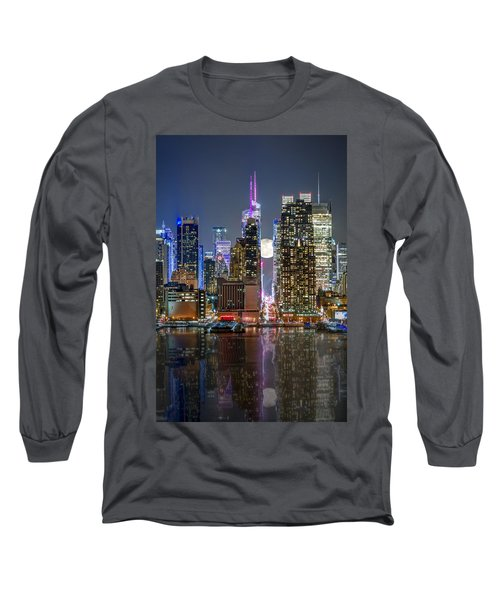 Super Moon At 42nd Street  Long Sleeve T-Shirt