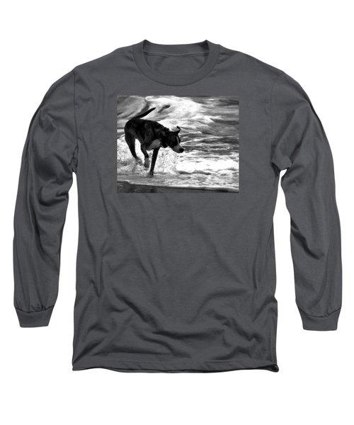 Surfer Bird Long Sleeve T-Shirt by Robert McCubbin