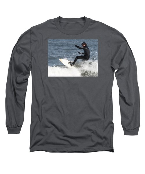 Long Sleeve T-Shirt featuring the photograph Surfer On White Water by John Telfer