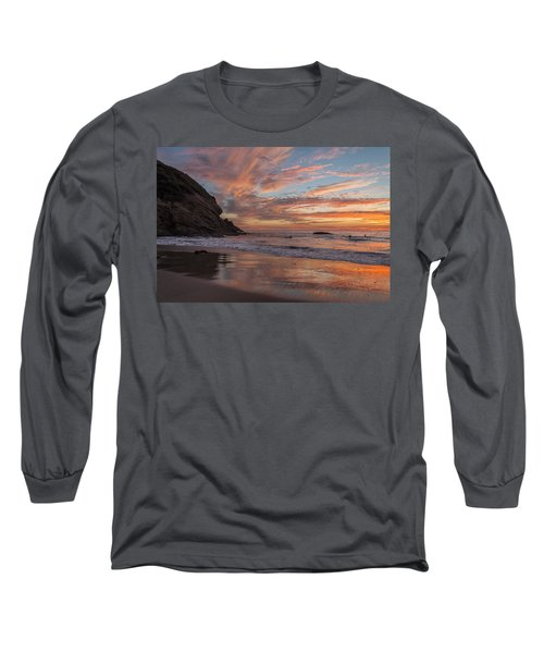 Surfers And Sunset At Strands Beach Dana Point Long Sleeve T-Shirt