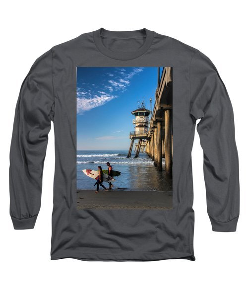 Long Sleeve T-Shirt featuring the photograph Surf's Up by Tammy Espino