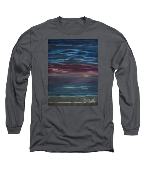 Long Sleeve T-Shirt featuring the painting Surreal Sunset by Ian Donley